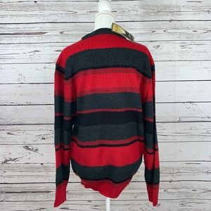 Sun River Sweaters - NWT Sun River red and gray striped sweater